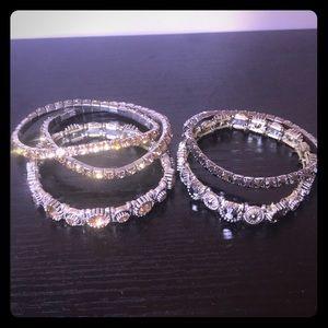 Dark grey & gold diamond bracelet